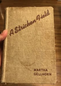 Photo of the book cover of Martha Gellhorn's novel, A Stricken Field