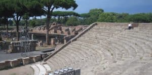Image of the amphitheater at Ostia Antica, Italy