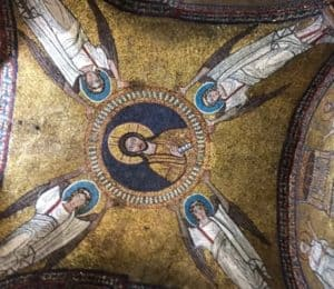 Image of mosaics in dome of chapel in Santa Pressede, Rome