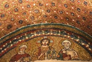 Image of early mosaics in church of Santa Pressede in Rome